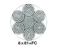 6×61类圆股钢丝绳(ZS0304)